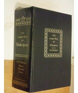 1958 KITTREDGE PLAYERS EDITION OF THE COMPLETE WORKS OF WILLIAM SHAKESPEARE - $10.80