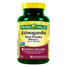 Spring Valley Ashwagandha Root Powder Vegetarian Capsules, 800 mg, 60 Count - $20.67