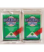 1990 Upper Deck Baseball Cards Lot of 2 (Two) Sealed Unopened Packs* - $15.82