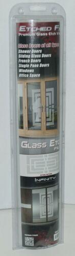 Illusions Inc GE1406 Etched FX Premium Glass Etch Vinyl Infinity