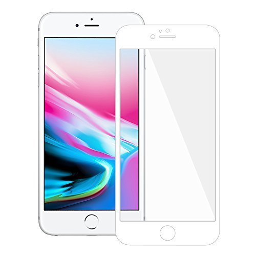 Premium Tempered Glass HD Edge2Edge White Screen Protector for iPhone 8 Plus