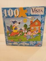 "Vista Three Little Pigs 100 Piece Jigsaw Puzzle 8.25"" x 11"" Leap Year Pu... - $7.69"
