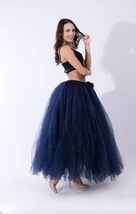 Adult Tutu Maxi Skirt Drawstring High Waist Party Tutu Tulle Skirt Petticoats  image 12