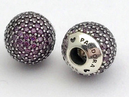 Authentic Pandora Pave Open Bangle Caps, Purple CZ, 796481CFP, New - $71.24