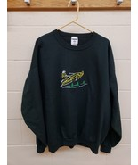 Vintage Jerzees 2XL Snowmobile Winter Sports Sweatshirt Pullover Black C... - $19.80