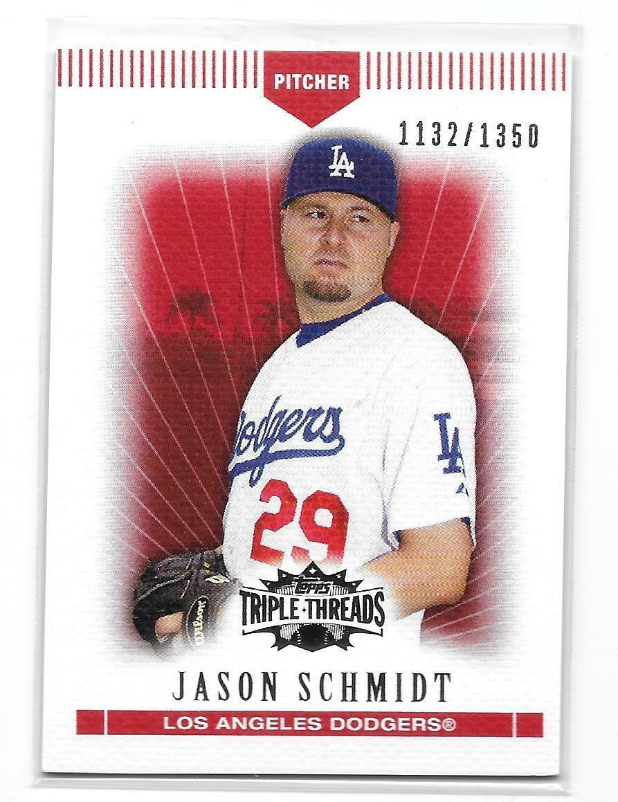 2007 Topps Triple Threads Red Jason Schmidt Card-#/1350!