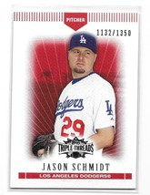 2007 Topps Triple Threads Red Jason Schmidt Card-#/1350! - $1.24
