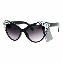 Womens Cateye Sunglasses Shiny Silver Decor Stylish Fashion Shades UV 400 - $11.95