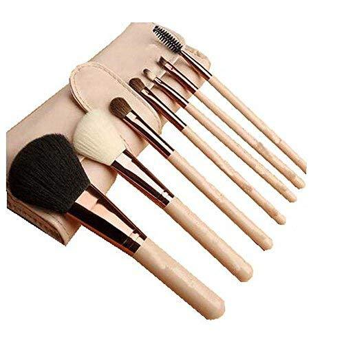 7 Pcs Synthetic Foundation Eye Shadows Professional Makeup Brush Sets(Nude)