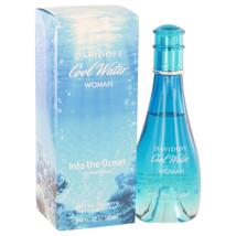 Cool Water Into The Ocean by Davidoff Eau De Toilette Spray 3.4 oz - $37.95