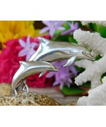 Vintage Kabana Dolphin Porpoise Brooch Pin Pendant Sterling Silver - $54.95