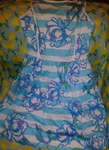 Lilly Pulitzer Sandrine Shorely Blue  Tossing The Line Pearl Detail Dres... - $55.43