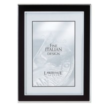 Lawrence Frames Silver and Black 5 by 7 Metal Picture Frame New - $24.00