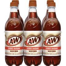 A&W Root beer, A&W Zero Sugar Root Beer 16.9 oz bottles (pack of 6) - $19.95