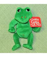 """Gund FLASH the FROG Bean Bag Plush with HANG TAG 8"""" Stuffed Animal #6105... - $19.80"""