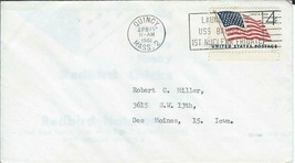 USS Bainbridge (DLGN-25) 15 April 1961 Launch USPS Slogan Cancel Uncacheted - $3.47