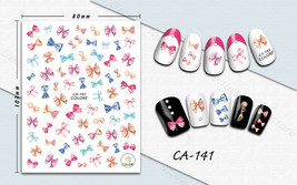 Nail art 3D stickers decal pink blue ties CA141 - $3.09
