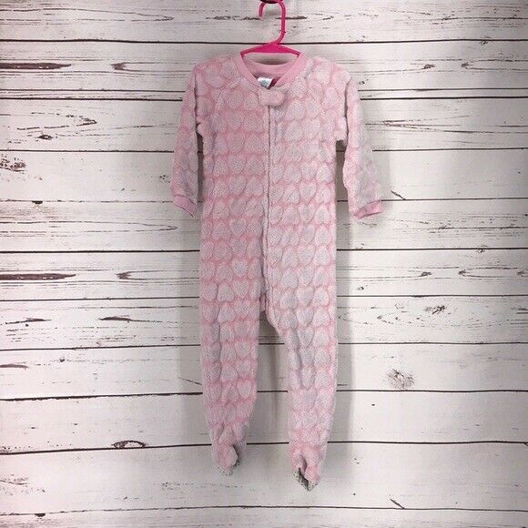 Children's Place Pink Toddlers Heart  2T Sleeper   10G - $13.06