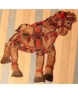 Antique horse shadow puppet animal character tradtional collectible art ... - $542.03