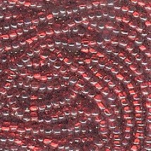 11/0 Seed Bead Rocaille Full Hank Red 9 - $7.99