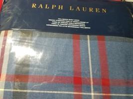 Ralph Lauren Saranac Peak Bentwood Plaid Queen Duvet Cover Tartan Blue C... - $165.89