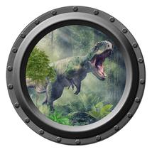 T Rex Dinosaur - Porthole Wall Decal - $14.00