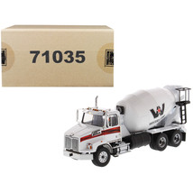 New Western Star 4700 SB Concrete Mixer Truck White 1/50 Diecast Model b... - $133.01