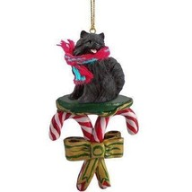 Conversation Concepts Pomeranian Black Candy Cane Ornament - $13.99