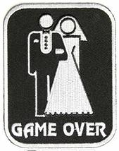 Game Over Large Marriage Embroidered Sew or Iron-On Patch - 3x3.75 inch - $7.87