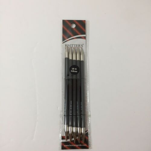"Knitter's Pride Karbonz 6"" Double Pointed Knitting Needles Size 10 - $19.34"