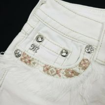 Miss Me Women's Signature Fringe Shorts JP7293H White 25 26 $89.50 Embroidered image 3