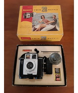 Vintage Kodak Brownie Twin 20 camera with Kodak Supermite flash holder a... - $49.75