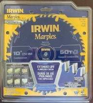 "Irwin 1853158 Marples 10"" x 50 Tooth Carbide Saw Blade Italy - $29.70"