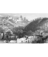 ITALY Sicily Castro Giovanni Ancient Enna- Antique Print - $15.26