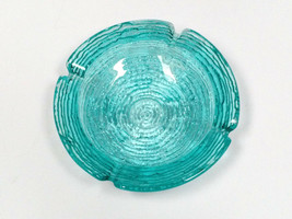 "VTG Anchor Hocking SORENO Blue Cigar Ashtray bowl candy dish 6 1/4"" VTG RARE! - $42.56"