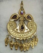 Vintage 21K/21C Solid Gold Amethyst Gemstones Pendant Saudi Arabian Jewe... - $11,750.00
