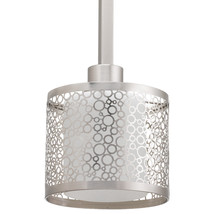 Progress Lighting Mingle 6-in Brushed Nickel Mini Etched Glass Drum Pend... - $1.207,12 MXN