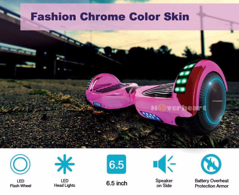 Chrome Pink Flash Wheel Bluetooth Hoverboard Two Wheel Balance Scooter UL2272