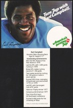 Vintage carton stuffer 7 UP dated 1979 Earl Campbell Houston Oilers unus... - $8.99