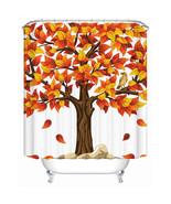Shower Curtain Beautiful Autumn Maple Leaves Eco-Friendly Waterproof -SC... - $31.00+