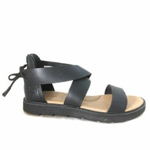 7.5 - Timberland Womens Black Strappy Leather Bailey Park Sandals 0504KD - $45.00