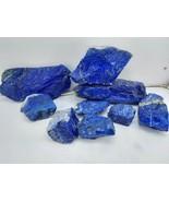 Supreme Quality Royal Blue Grade AAA rough Lapis Lazuli Pure Blue 2820gm... - $445.50