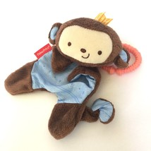 Fisher Price Baby Monkey Lovey Plush Cuddle Toy Blue Security Blanket Ra... - $12.19
