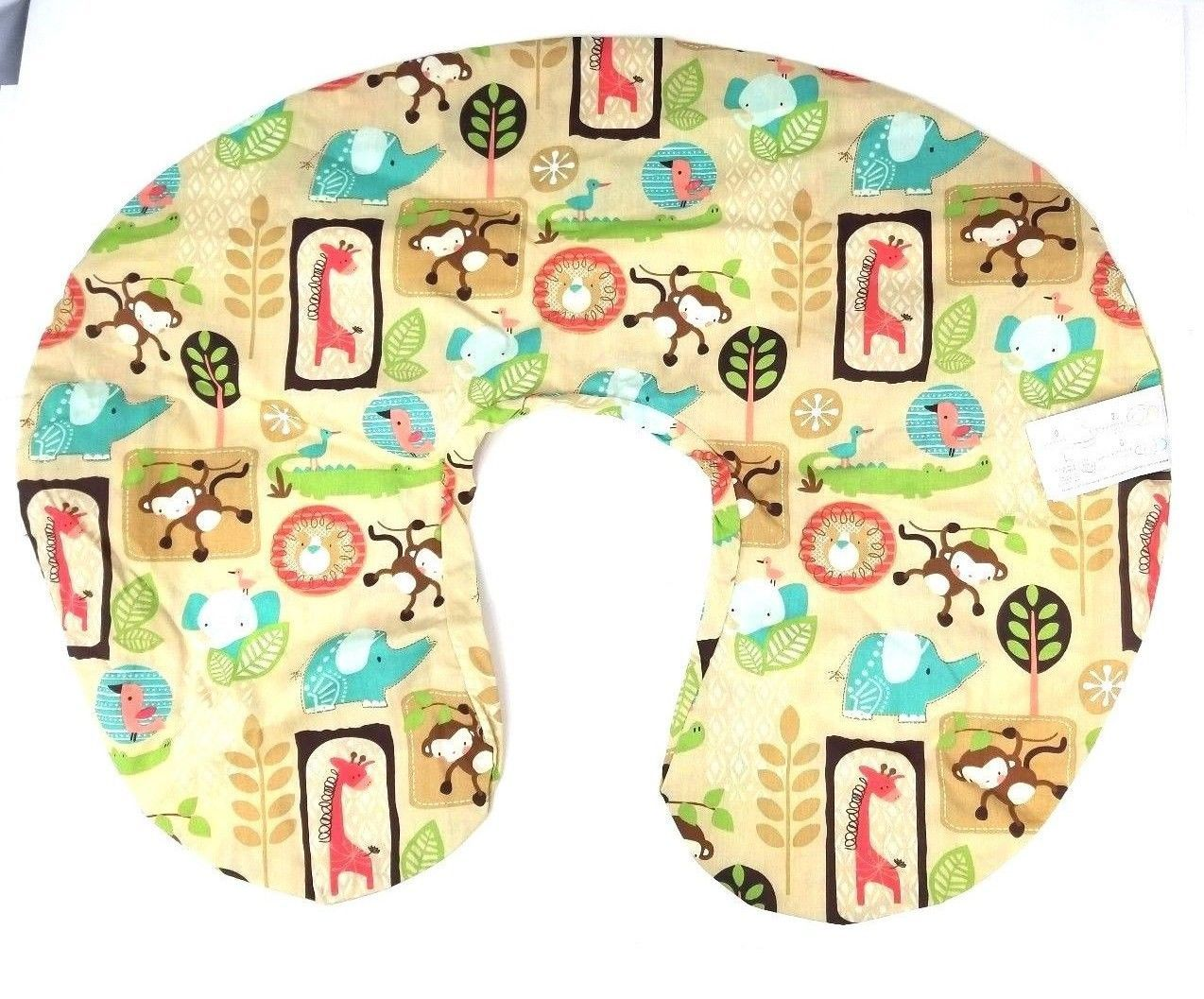 The Original Boppy Support Pillow Cottony Cute Slipcover Baby Jungle Animals image 2