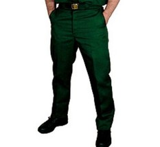 Dickies Wrinkle Free Twill Green Work Pants in Waist Sizes 28 to 50 Inse... - $29.99
