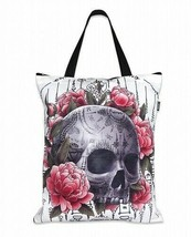 Liquor Brand Sak Yant Tote Bag Skull with thai tattoos Sacred Geometrica... - $22.00