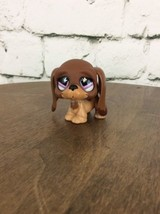 Littlest Pet Shop~#665~Puppy Dog~Basset Hound~Brown Beige~Purple - $9.89