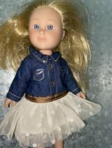 My Life As Mini Cowgirl Doll 7 Inch Blonde Hair Blue Eyes - $10.30
