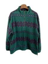 Eddie Bauer Mens Fleece Jacket XXL Tall Green Southwest Half Zip - $98.99