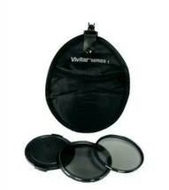 Vivitar 4 Piece Filter Kit Set 58mm UV & CPL Filter, Lens Cap & Case. Ni... - $8.79